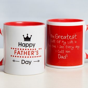 Fathers Day Mug with Both Side View