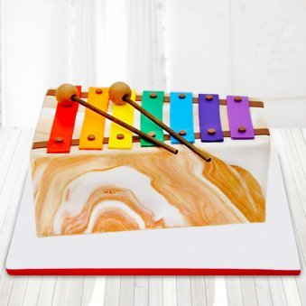 Fondant xylophone cake for kids