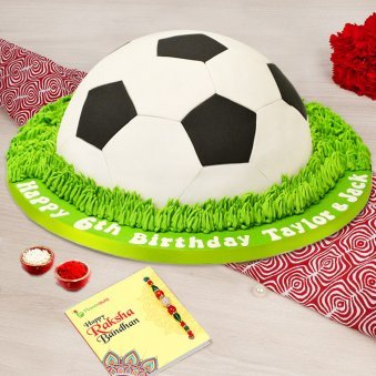 Rakhi with 2kg Football cake, Roli tikka