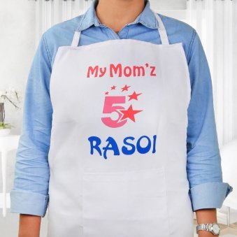 My Moms 5 Star Rasoi Apron in Wearing View