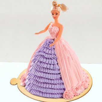Barbie Theme Fondant Cake