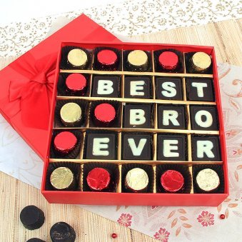 25 handmade Best Bro Ever chocolates