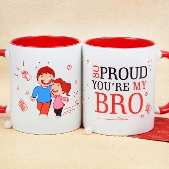 So Proud You Are My Bro mug with Both Side View