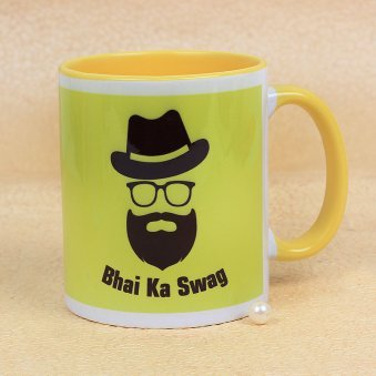An Awesome Bhai Ka Swag Mug with Front Sided View