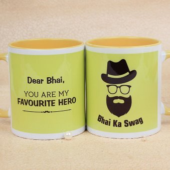 An Awesome Bhai Ka Swag Mug with Both Sided View