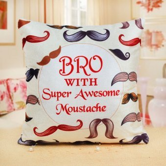 Bro with Super Awesome Moustache Cushion