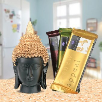 Buddha's Blessings - Buddha Statue, Temptations Chocolates
