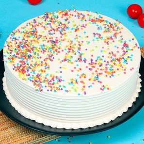 Half Kg Vanilla Cake with Side View
