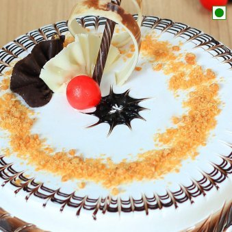Delectable Eggless butterscotch cake - Zoom View