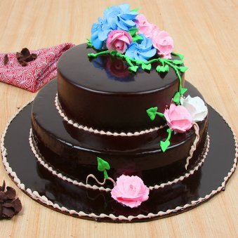 2 Tier Chocolate Cake 3 kg Sumptuous 3 Kg grand occasions - for online delivery in Gurgaon