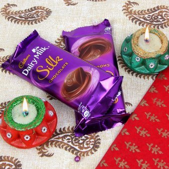 Diwali Diya with Chocolates