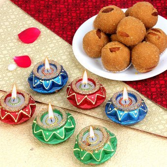 Best Diwali Sweets with Diyas