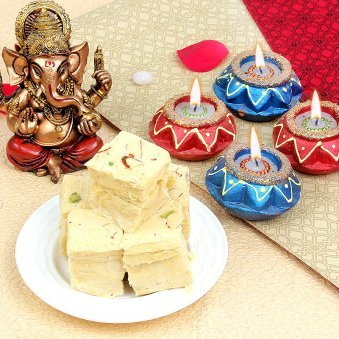Diwali Diya with God Idols