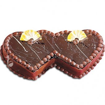 Double Heart Chocolate Cake 2 Kg