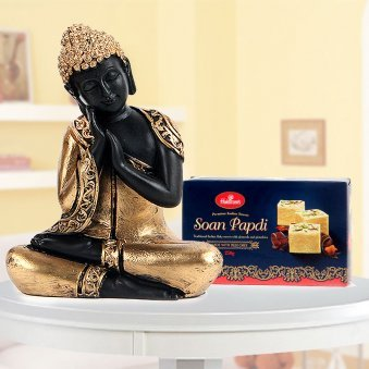 A combo of Lord buddha god idol and Soan Papri