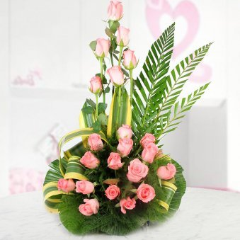 An Arrangement of 25 beautiful Pink Roses