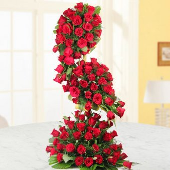 100 Red Roses Arrangement