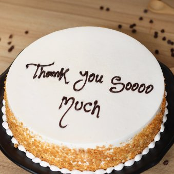 Saying Thanks Cake - Zoom View