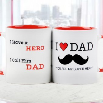 Dad you are my Super Hero Quoted Mug with Both Sided View