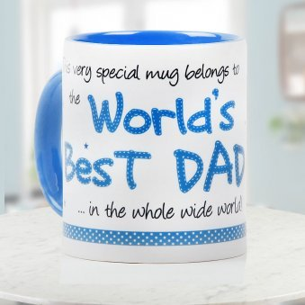 Worlds Best Dad Quoted Dutone Mug for Fathers Day
