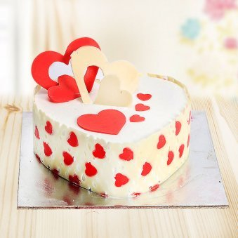 Anniversary Heart Shaped Pineapple Cake