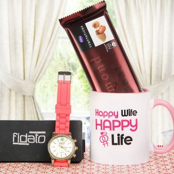 Cute Fidato Watch with Mug Watch and Temptation Combo