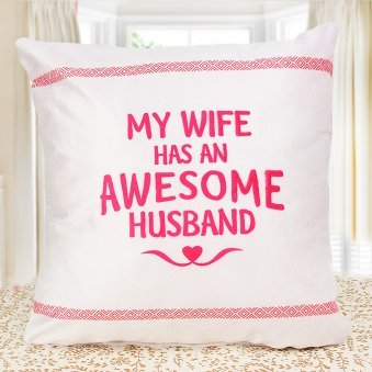 Awesome Husband White Cushion