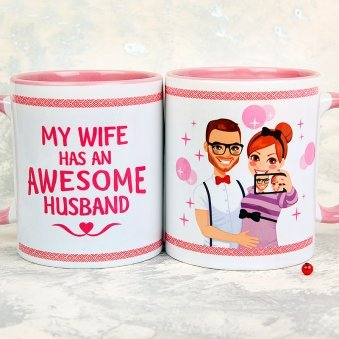Awesome Husband White Mug