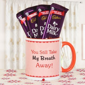 4 Dairy Milk Chocolates and a Mug Combo