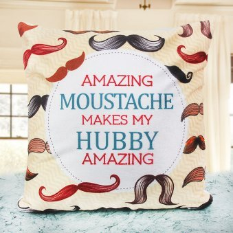 Moustache Cushion