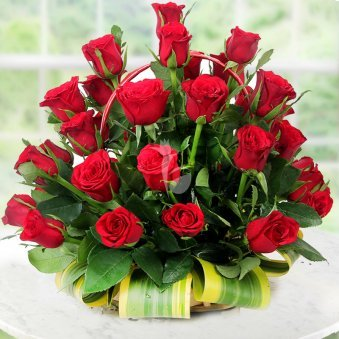 Front view of 40 Red Roses - A gift of Love Sensation