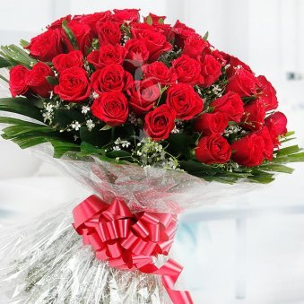 Love You Forever - 60 red roses bouquet