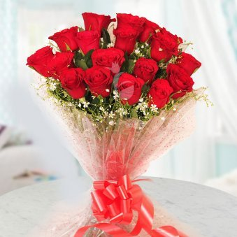 Lovely choice An Elegant Bouquet Of 20 Red Rose Flowers Gift for Him