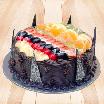 Chocolate Truffle Fruit Cake
