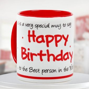 """Birthday special mug"" - For your best buddy"
