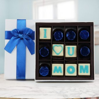 I love you Mom hand made chocolate gift pack for mothers day