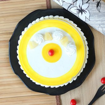 Peoples Pineapple Cake with Top View