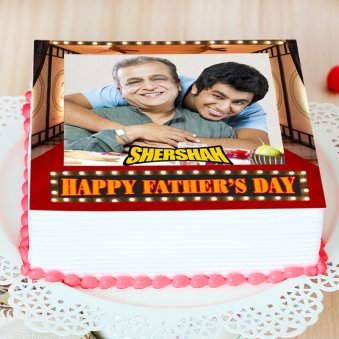 happy fathers day cake with name - Zoom View