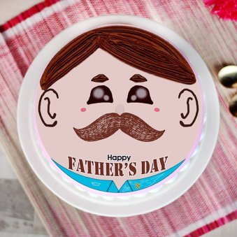 father's day moustache cake