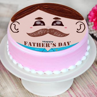 moustache cake for Father