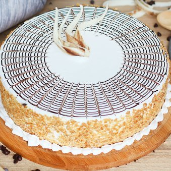 Butterscotch Cake Eggless - Zoom View