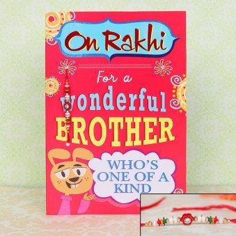 Greeting Card for Bhai alongwith Rakhi