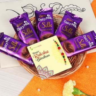 One Rakhi with Cadbury Silk