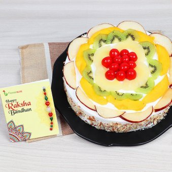 Rakhi and 1 kg fruit cake in India