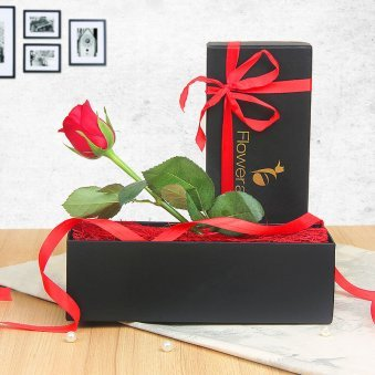 Red Rose in a Box - Valentine Day Flower Gift
