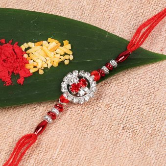 Shining Red Dori Rakhi