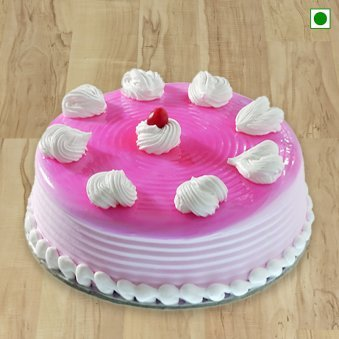 Fresh Strawberry Eggless Cake
