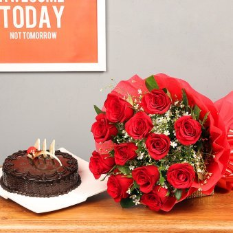 Red Rose And Chocolate Cake Mediafloweraura Sites