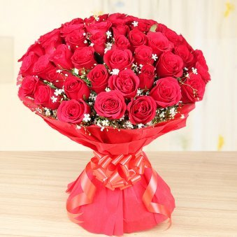 Lovers Special - 50 red roses special bouquet