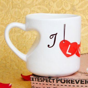 Love You Mug Mug with Back Sided View